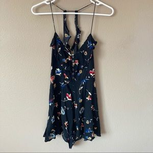 Kimchi blue (urban outfitters) black floral romper